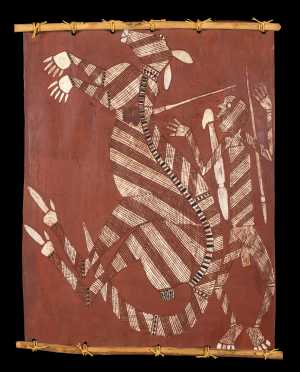 Bluey Ilkirr, Aboriginal Australian Bark Painting