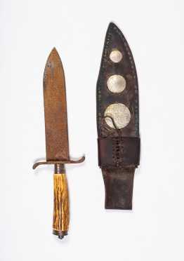 Native American Made Knife Sheath and Knife