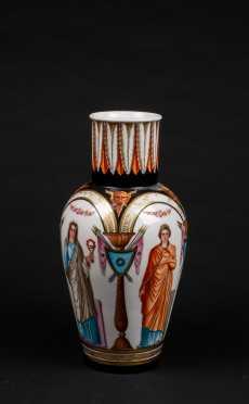 Paris Porcelain Tall Vase with Classical Decoration