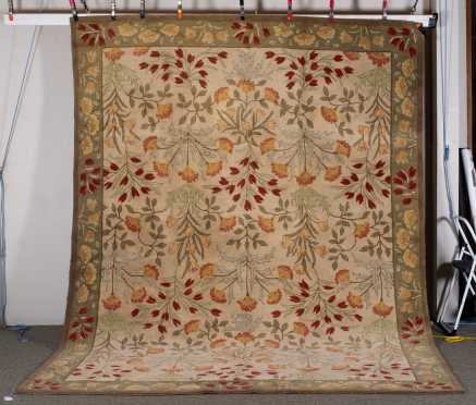 Modern Machine Made Floral Room Size Rug