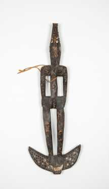 Figural Middle Sepik Basket Hook