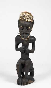 Male Ancestor Figure, Papua, New Guinea, Exhibited
