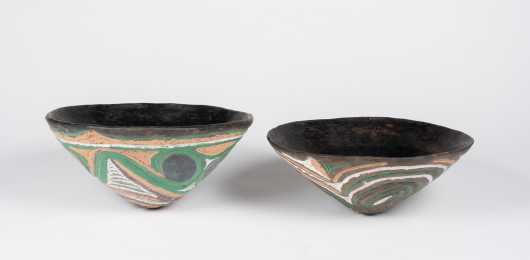 Pair of Sawos Bowls, Papua New Guinea