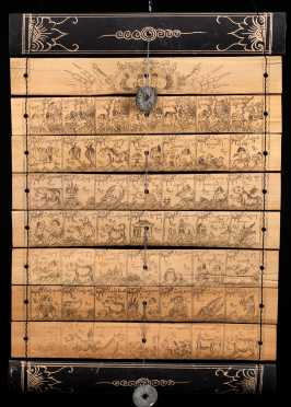 """Bali"" Traditional Calendar Etched on Bamboo"