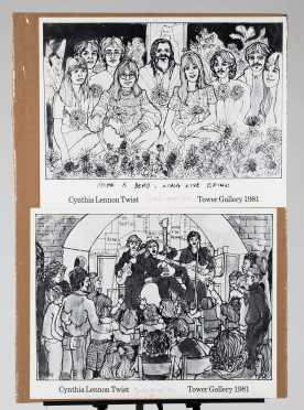 "Two Signed ""Cynthia Lennon Twist"" Beatles Posters"