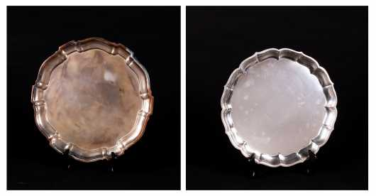 Two Sterling Silver Chippendale Style Trays