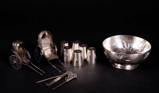 Chinese Export Silver Miscellaneous Lot of Items