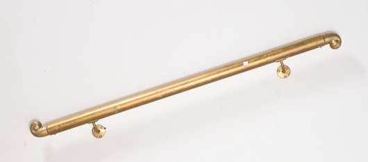 Brass 20thC Staircase Railing
