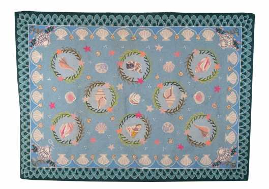 """Claire Murray"" Cape Cod Shell Design Hooked Rug"