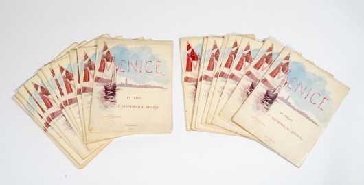 """A Portfolio of 20 """"Venice of Today"""" by F. Hopkins Smith, NY, Maryland (1838-1915)"""