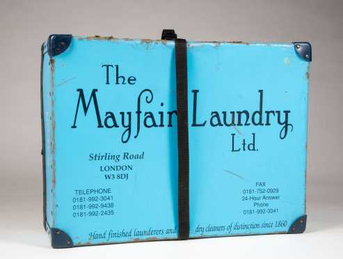 "English ""The Mayfair Ltd"" Blue Laundry Box"