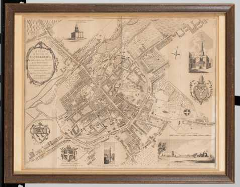 "1825 ""A Plan of the City of Canterbury"" England"