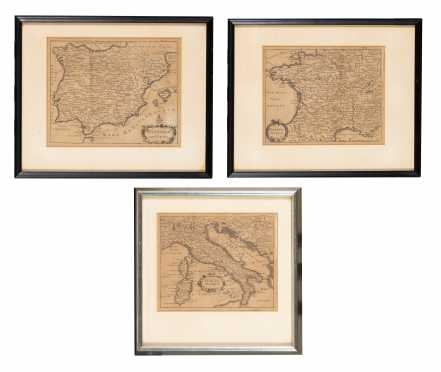C1755 Maps of Italia, Hispana, Gallia