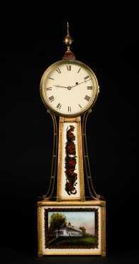 Antique Aaron Willard School Banjo Clock