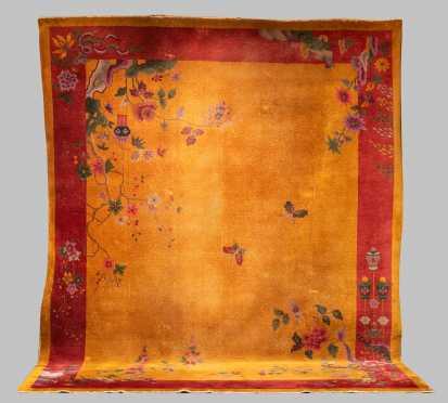 Vintage Chinese Room Size Oriental Rug
