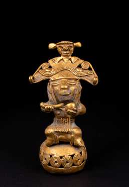 Pre Columbian Tairona Gold Male Figure