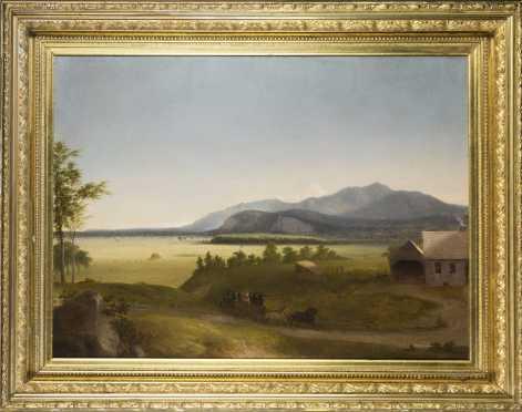School of John F. Kensett or Benjamin Champney- Moat Mountain/ N.Conway Meadows