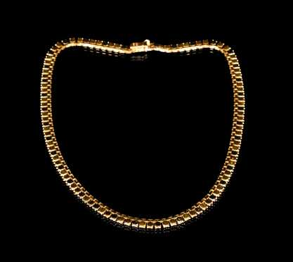 Tri-Color 18kt. Gold Necklace