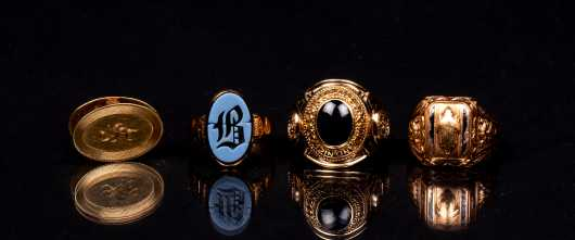 Three Gold Rings and Tie Clip
