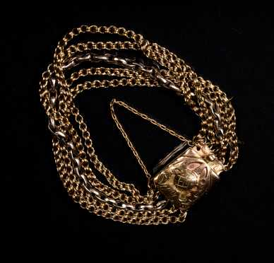 Multi Strand 14k Gold Antique Bracelet