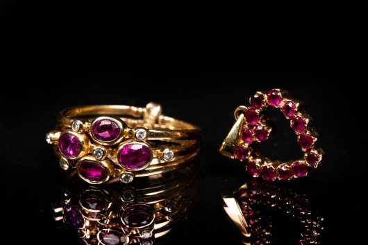 14K Gold Ruby Lot
