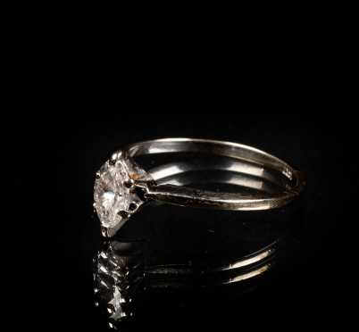 Diamond Marquise Solitaire Ring