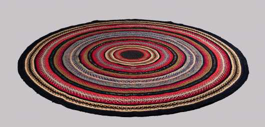 """State of Maine"" Large Round Braided Rug"