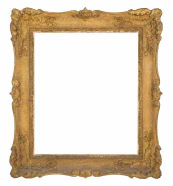 American Dated 1844 Gold Molded Frame