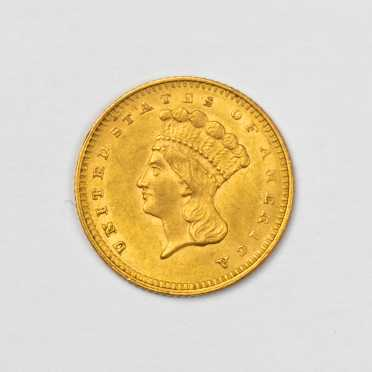1862 $1 Gold