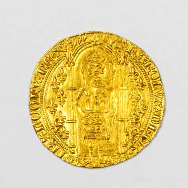 France (1364-1380) Gold Franc A Pied