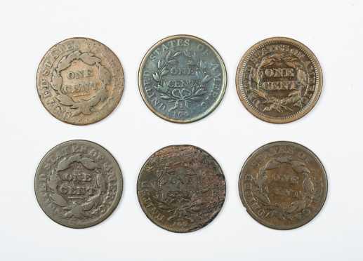 Six Large Cents