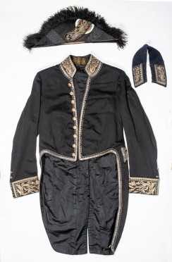 French Dress Naval Officer's Tail Coat and Hat Circa 1900