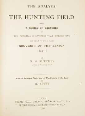 """The Analysis of the Hunting Field"" By R.S. Surtees"