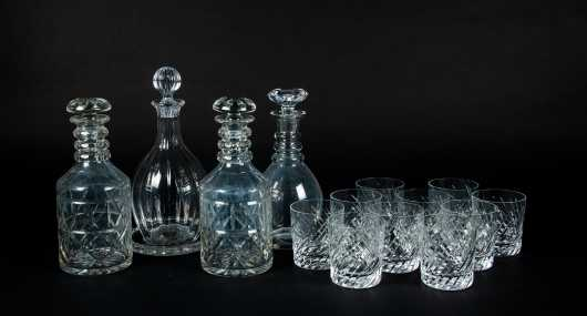 Cut Crystal Decanters and Tumblers