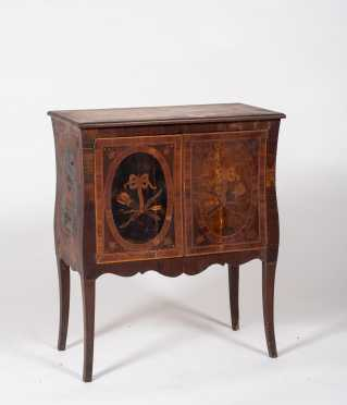 French Style Marquetry Inlaid Cabinet