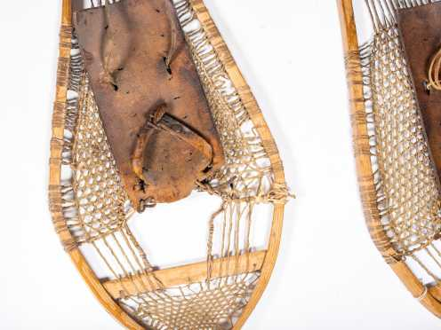 Pair of Native American Made Snow Shoes
