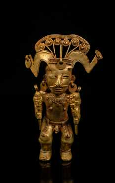 Pre-Columbian Tairona Gold Male Figure