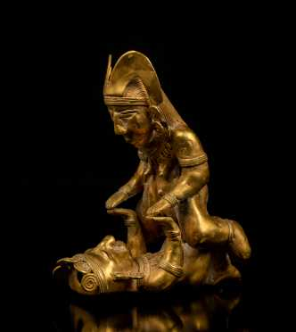 Pre-Columbian Tairona Gold Sexual Couple