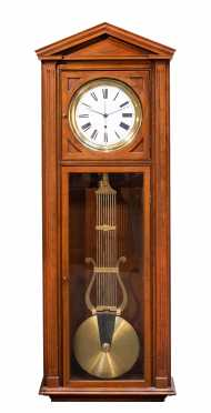 "73"" Tall Cherry Case Wall Regulator Clock"