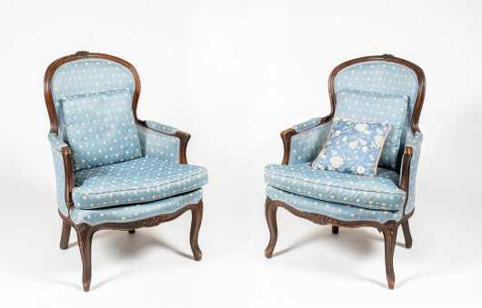 Pair of Second Period French Armchairs