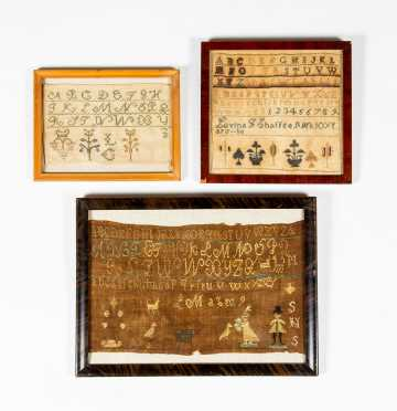 Three Small 19thC Samplers