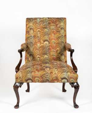 E20thC English Chippendale Style Lolling Chair