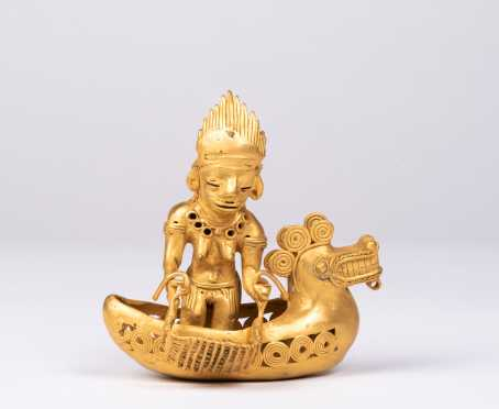 A Pre-Columbian Tairona Gold Figural Assemblage