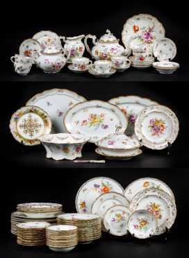 Large Lot of Dresden and Meissen China