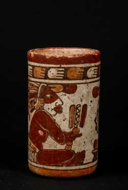 Pre-Columbian Cylindrical Jar