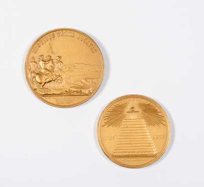 Historic Metals - Mason's Eye/ Eagle, George Washington/ Boston