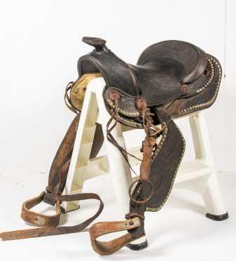 1940 Western Leather Show Saddle
