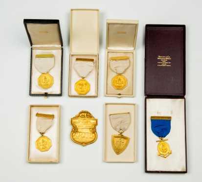 "Lot of Seven ""Tiffany & Co."" Award Medals"
