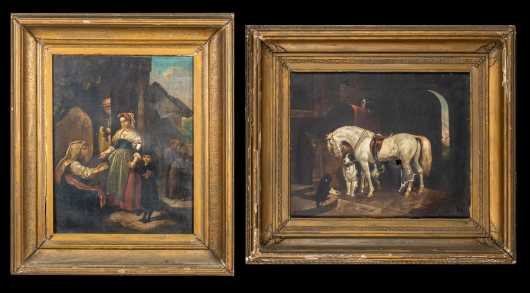 Two Dutch E19thC Genre Paintings