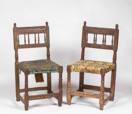 Pair of 16th/17thC Continental Side Chairs